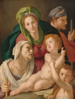 Agnolo Bronzino (Florentine, 1503 - 1572 ), The Holy Family, c. 1527/1528, oil on panel, Samuel H. Kress Collection 1939.1.387