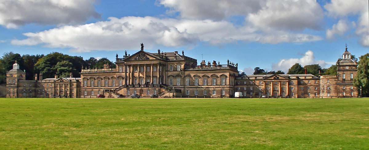 The Palladian east faÁade of Wentworth Woodhouse, which lays claim to be the longest in the country