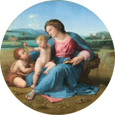 Raphael (Italian, 1483 - 1520 ), The Alba Madonna, c. 1510, oil on panel transferred to canvas, Andrew W. Mellon Collection