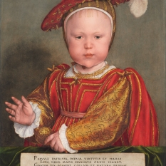Hans Holbein the Younger (German, 1497/1498 - 1543 ), Edward VI as a Child, probably 1538, oil on panel, Andrew W. Mellon Collection