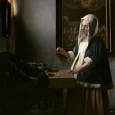 Johannes Vermeer (Dutch, 1632 - 1675 ), Woman Holding a Balance, c. 1664, oil on canvas, Widener Collection 1942.9.97