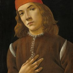Sandro Botticelli (Florentine, 1446 - 1510 ), Portrait of a Youth, c. 1482/1485, tempera on poplar panel, Andrew W. Mellon Collection 1937.1.19