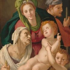 Agnolo Bronzino (Florentine, 1503 - 1572 ), The Holy Family, c. 1527/1528, oil on panel, Samuel H. Kress Collection 1939.1.387