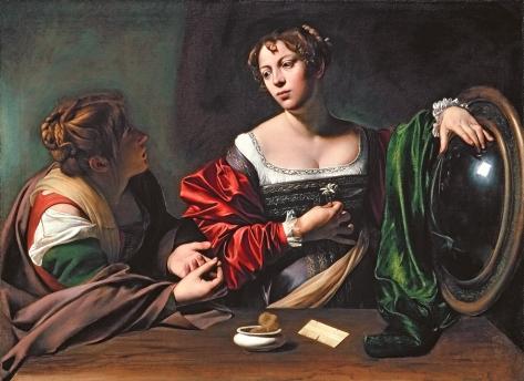Martha and Mary Magdalene, by Michelangelo Merisi da Caravaggio