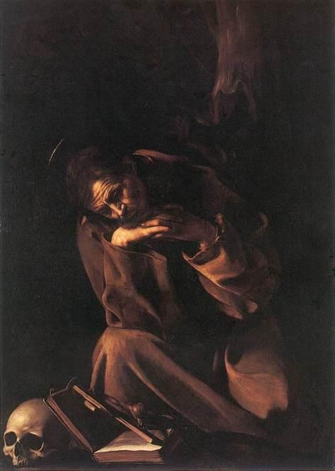 Caravaggio_Saint Francis in Meditation