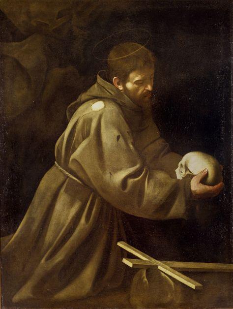 Caravaggio_Saint Francis in Prayer
