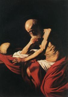 Caravaggio_Saint Jerome in Meditation
